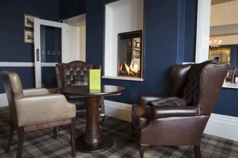 Marine Hotel Whitstable - Armchairs by the fire